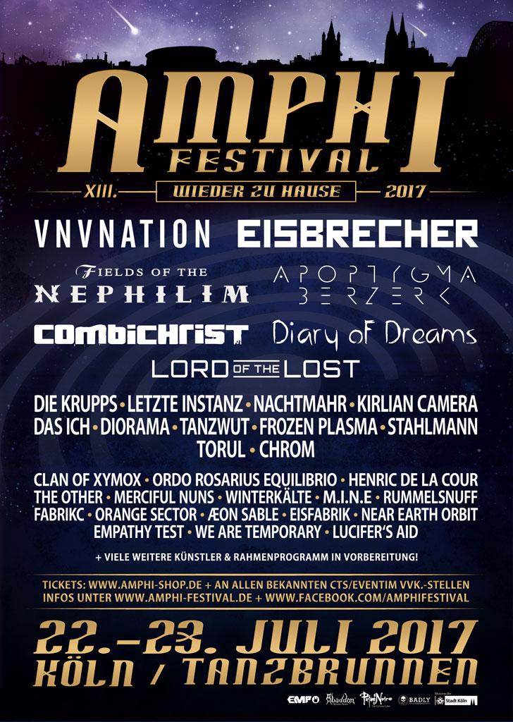 Amphi Festival 2017 mit Eisbrecher,...