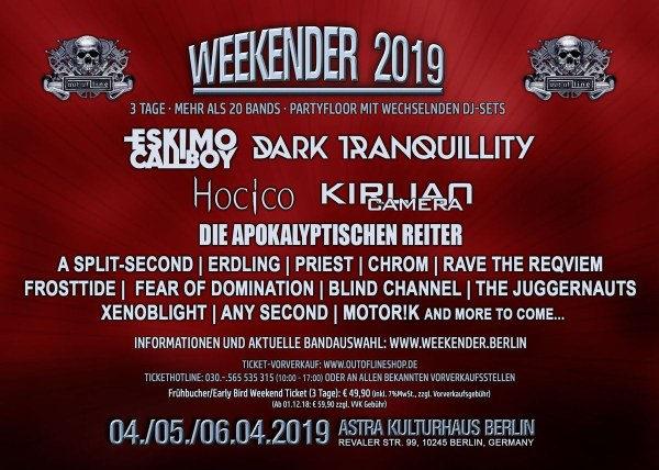 Out Of Line Weekender 2019...