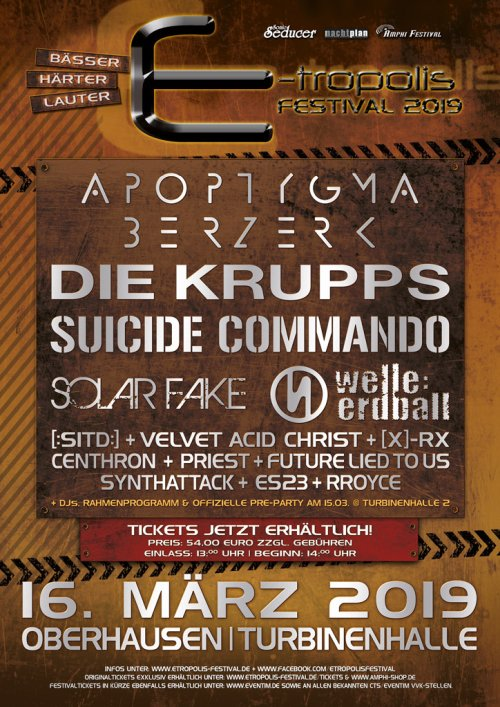 E-tropolis Festival 2019 Die Krupps...