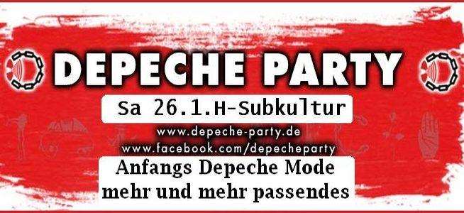 Depeche Mode Party im Subkultur