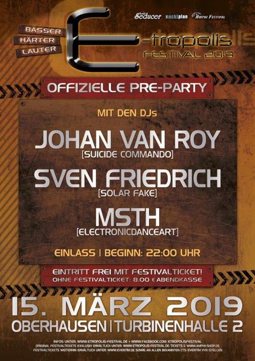E-tropolis Festival Infos zur Pre-Party