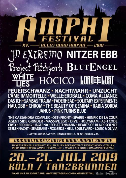 Amphi 2019 - White Lies & 3 weitere Bands komplettieren das Line-Up