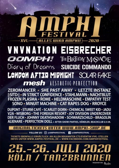 Amphi Festival 2020 Das Line-Up...