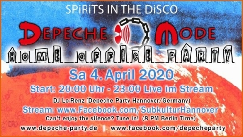 Depeche Party am 4. April...