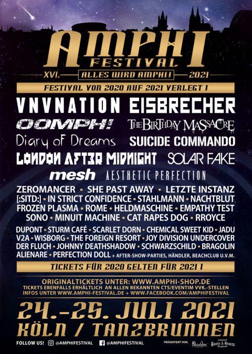 Amphi Festival 2021: Line-Up Komplett & Infos